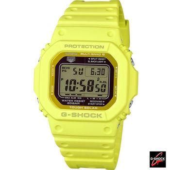 卡西歐 CASIO G-SHOCK 六局電波運動腕錶 GW-M5610MD-9 黃