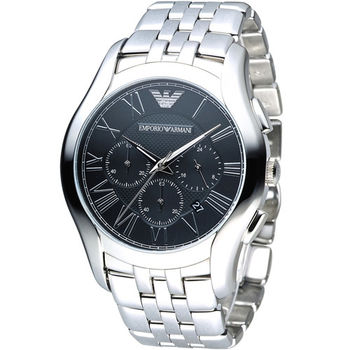 EMPORIO ARMANI Classic 羅馬假期計時腕錶 AR1787 / AR1786