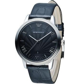 EMPORIO ARMANI Classic 簡約內斂計時腕錶 AR1611 黑