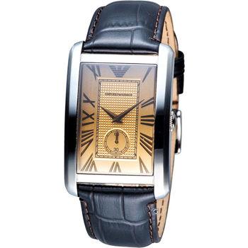EMPORIO ARMAN 經典時尚石英腕錶 AR1605 香檳色