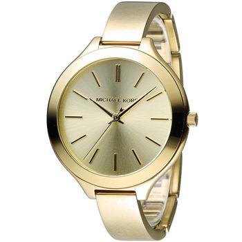 Michael Kors 美國經典簡約手環式腕錶 MK3275 金色