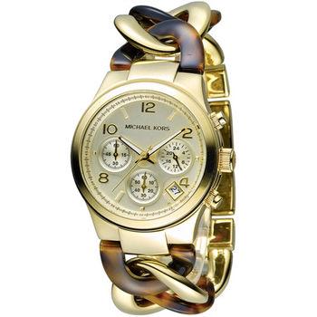 Michael Kors 自我風格手鍊式計時腕錶 MK4222 金色