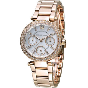 MICHAEL KORS 古典美學時尚腕錶 MK5616 玫瑰金色