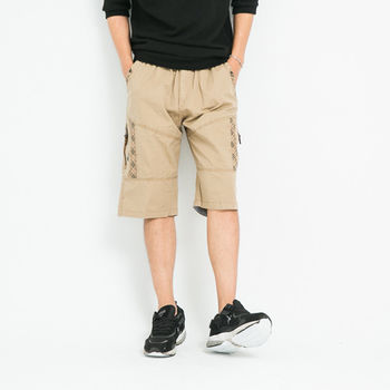 【5buy15】休閒加大鬆緊短褲-共三色