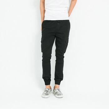 【5buy15】韓窄版口袋縮口褲-共兩色