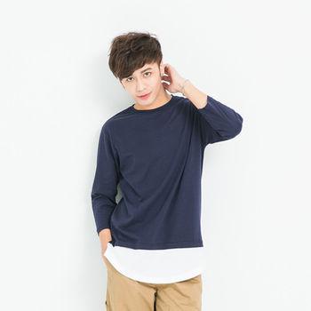 【5buy15】韓版內搭七分袖圓領長板T-共兩色