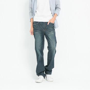 【5buy15】日系復古款刷色牛仔褲