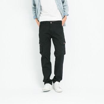 【5buy15】日系原色黑口袋工作褲