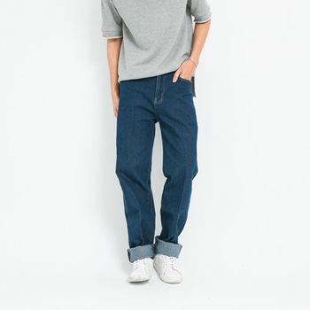 【5buy15】日系復古藍刷色牛仔褲