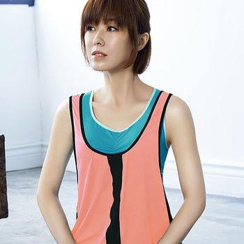 【Audrey】樂活瑜珈 運動型罩衫(蜜橙粉)