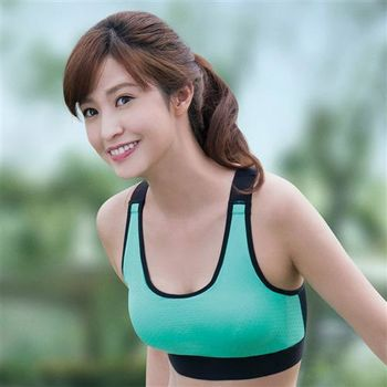 華歌爾 輕運動 5星級防護 B罩杯M-3L 運動內衣(陽光綠)