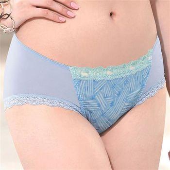 莎薇 Hello Kitty 熱力時尚 蕾絲款 M-LL 中低腰標準款 (巴西藍)