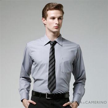 【ROBERTA諾貝達】台灣製 經典百搭 素面紳仕型男長袖襯衫(灰色)