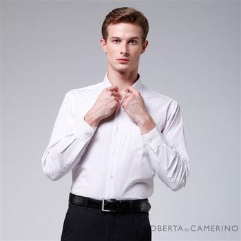 【ROBERTA諾貝達】台灣製 嚴選穿搭 簡約條紋長袖襯衫(淺粉)