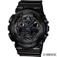 CASIO G ^#45 SHOCK 超 迷彩雙顯多 錶 GA ^#45 100CF ^#