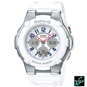 卡西歐 CASIO BABY-G 海軍風配色運動腕錶 BGA-110TR-7B