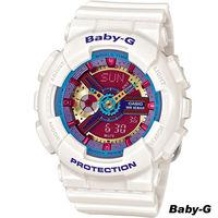 卡西歐 CASIO BABY ^#45 G 甜美帥氣雙顯式腕錶 BA ^#45 112 ^