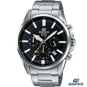 CASIO EDIFICE  立體時尚競速賽車錶 EFV-510D-1A 黑