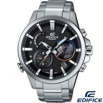 卡西歐 CASIO EDIFICE 立體混搭計時時尚錶 EQB-600D-1A 黑