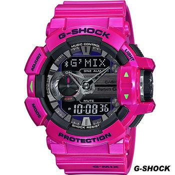 G-SHOCK 藍牙4.0無線運動錶 GBA-400-4C 桃紅