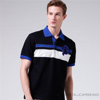 【ROBERTA諾貝達】M-LL台灣製 嚴選合身版 純棉短袖POLO衫(黑色)
