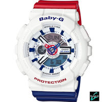 卡西歐 CASIO BABY ^#45 G 海軍風配色 腕錶 BA ^#45 110TR