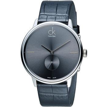 CK Calvin Klein 日月光系列小秒針時尚腕錶 K2Y211C3 灰