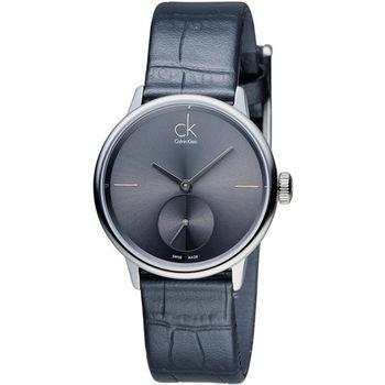 CK Calvin Klein 日月光系列小秒針時尚腕錶 K2Y231C3 灰