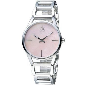 CK Calvin Klein 璀璨系列手環錶 K3G2312E 粉