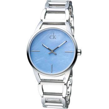 CK Calvin Klein 璀璨系列手環錶 K3G2312N 藍色
