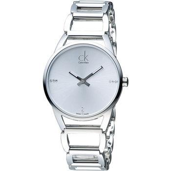 CK Calvin Klein 璀璨系列手環錶 K3G2312W  白