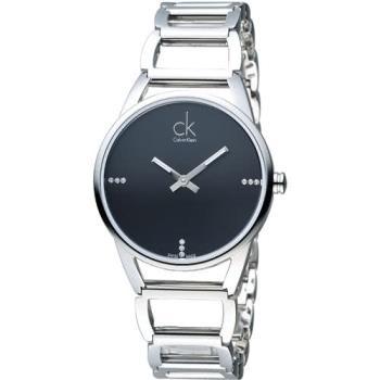 CK Calvin Klein 璀璨系列手環錶 K3G2312S  黑