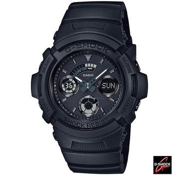 CASIO 卡西歐 G-SHOCK  雙顯式設計運動錶 AW-591BB-1A 黑
