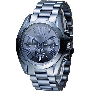 Michael Kors 漫步羅馬三眼計時腕錶 MK6248 藍
