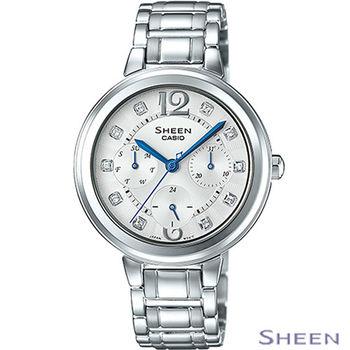 CASIO Sheen  晶漾時尚腕錶  SHE-3048D-7A 白