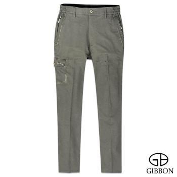 【GIBBON】防曬速乾戶外鬆緊長褲‧褐色M~3L