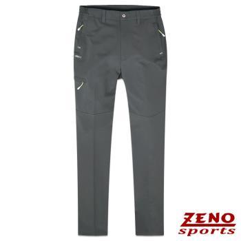 【ZENO傑諾】抗UV速乾戶外休閒鬆緊長褲‧灰色M~3L