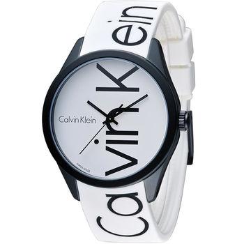 CK Calvin Klein K5E color 炫彩系列腕錶 K5E51TK2 白
