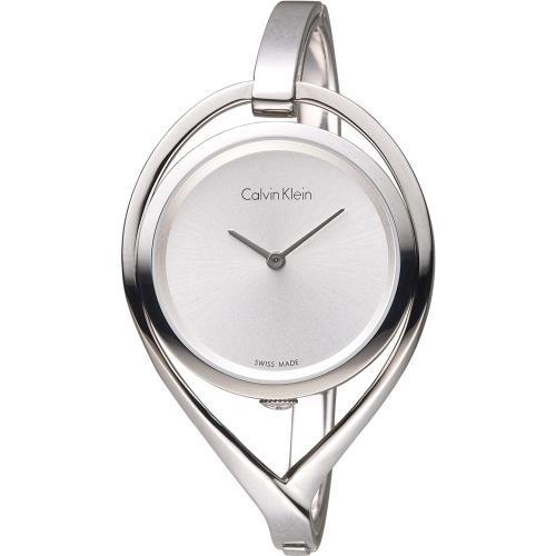 Calvin Klein  light 精巧系列 復刻回憶時尚腕錶 K6L2S116 白