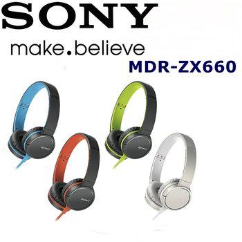 日本內銷 SONY MDR-ZX660 扁線 完美好音質 重低音耳罩式耳機 4色