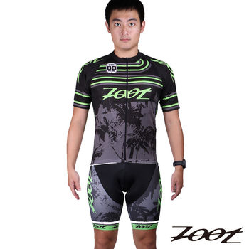 (特價限量品)ZOOT TEAM 特仕款車衣+(吊帶)車褲(男)(黑/綠) Z1403003+04