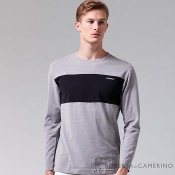 【ROBERTA諾貝達】台灣製 超柔軟 禦寒保暖 長袖POLO棉衫(灰色)