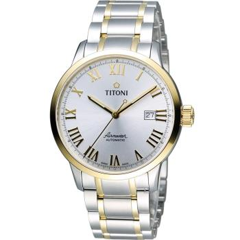 TITONI Airmaster 空霸 Day-Date 機械腕錶 83733SY-561 雙色款