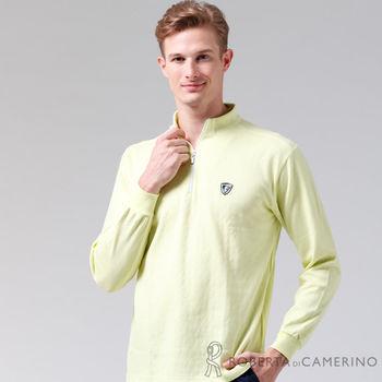 【ROBERTA諾貝達】台灣製 環保素材 魅力首選 長袖POLO棉衫(淡綠)