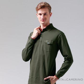 【ROBERTA諾貝達】台灣製  嚴選穿搭 時尚休閒長袖POLO棉衫 墨綠