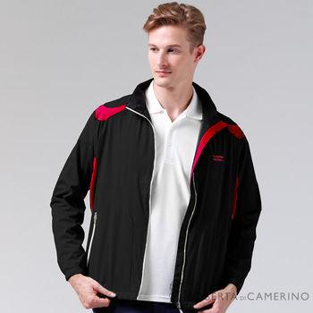 【ROBERTA諾貝達】進口素材 輕薄休閒防潑水夾克外套 黑色