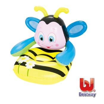 Bestway。Q版蜜蜂31x35x31兒童充氣沙發75062