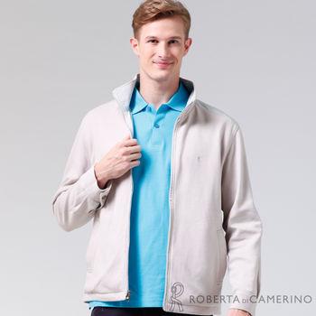 【ROBERTA諾貝達】台灣製 嚴選穿搭 休閒百搭 雙面穿夾克外套 白色
