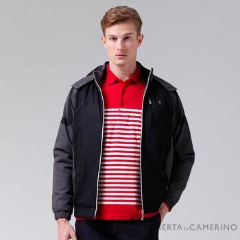 【ROBERTA諾貝達】禦寒必備 內裡舖棉防潑水夾克外套 紅黑