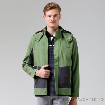 【ROBERTA諾貝達】嚴選穿搭 休閒極品防潑水夾克外套 綠色